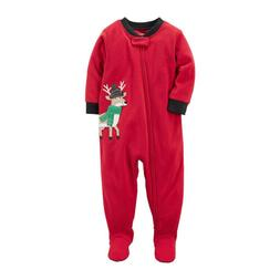 Carter's Red One Piece Fleece Footed Pajama for Baby Boys -