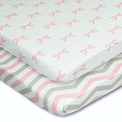 Cuddly Cubs Pack n Play Playard Sheets - Set of 2 Jersey Cot