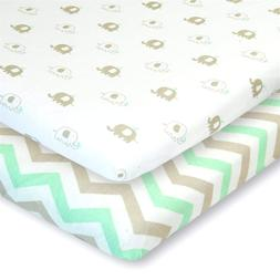 Cuddly Cubs Pack n Play Sheets 2 Pack Playard Sheet For Baby