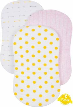 BaeBae Goods Jersey Knit Cotton Bassinet Fitted Sheet Set  3
