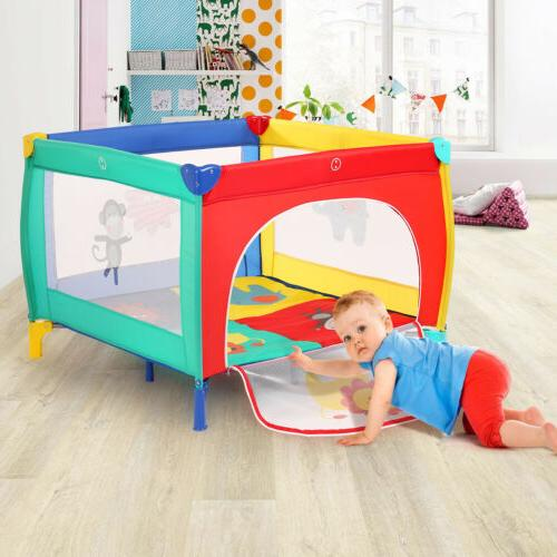 39''x39'' Baby Pen+Mattress Safety Out/Indoor