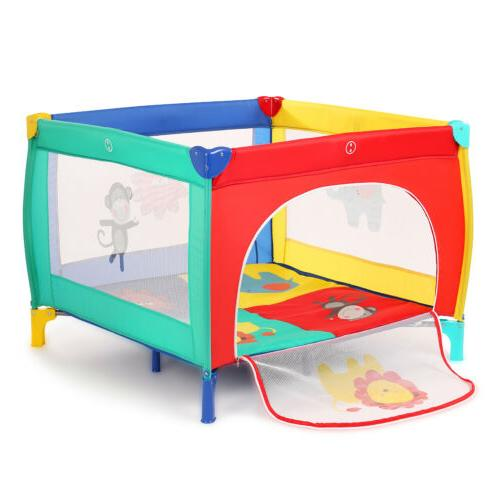 39''x39'' Playard Play Pen+Mattress Safety Out/Indoor