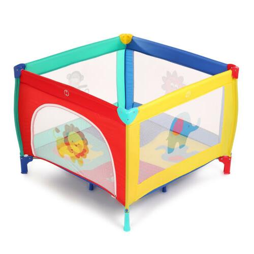 39''x39'' Baby Pen+Mattress Safety Playpen Out/Indoor for