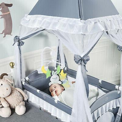 4-in-1 Baby Playard Infant w/ Changing