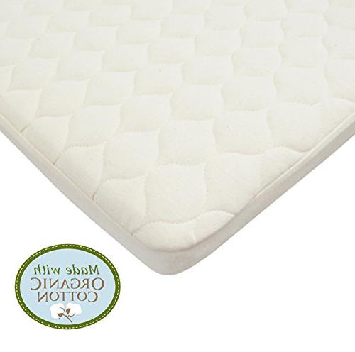 American Baby Company Quilted Pack Playard Mattress Cover made Cotton, Natural Color Vinyl