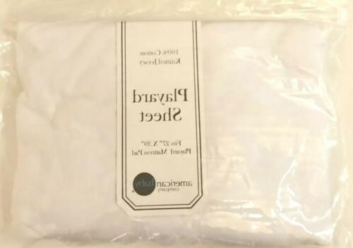 American Knitted Jersey Fitted Sheet X 39 White