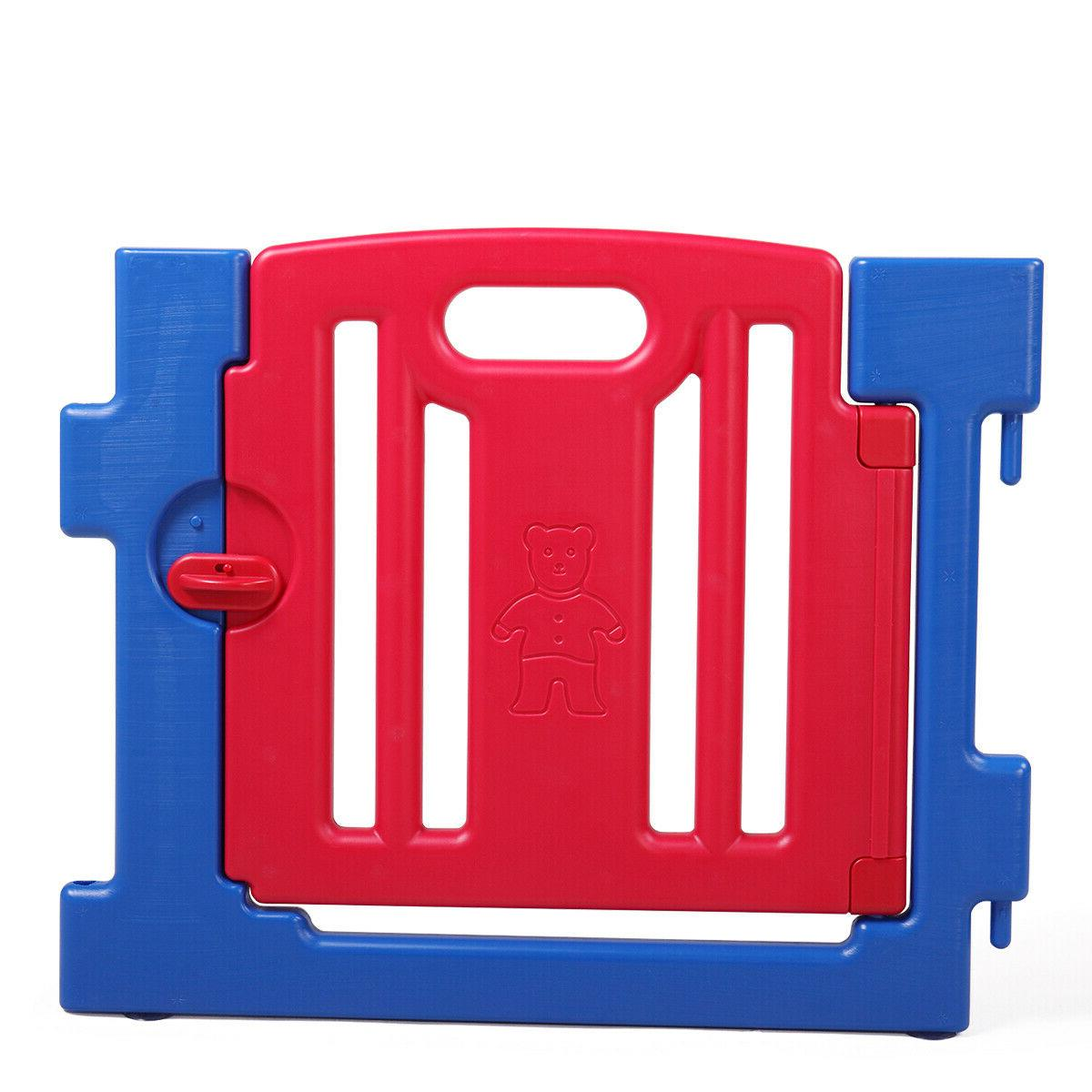 Baby Kids 8 Panel Safety Yard Home Pen Fence Outdoor