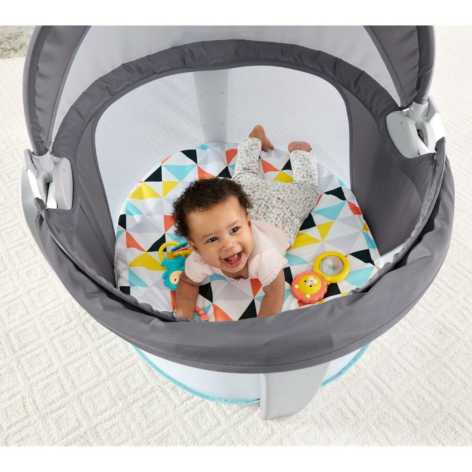 Fisher-Price On-The-Go Dome Safe Activity Windmill Playard
