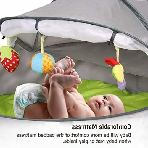 Kinbor Baby Foldable Pop-Up Canopy With UV Protection
