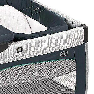 Chicco Playpen w/ Bassinet & Chaining Station, Poetic Gray