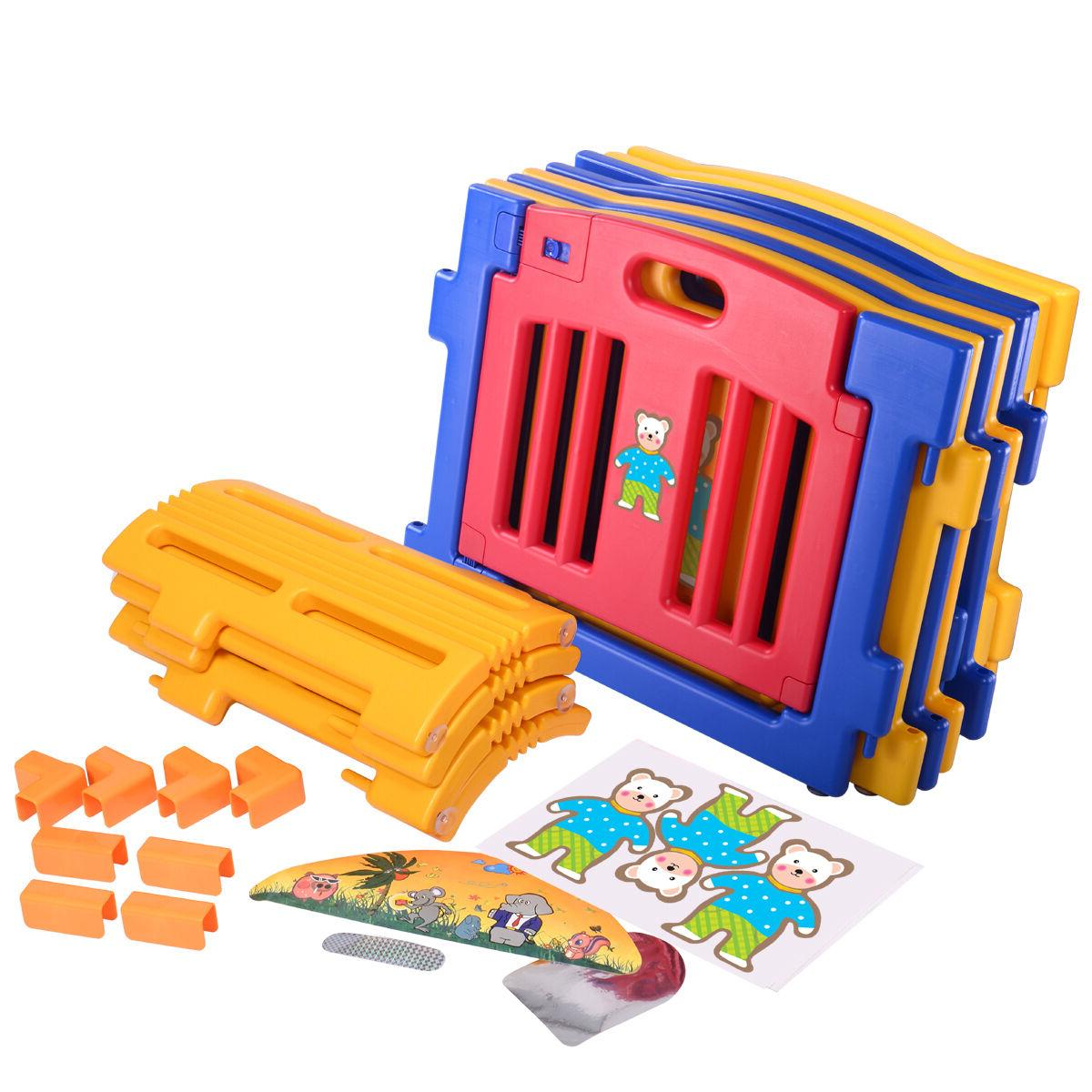 8/12 Panels Baby Kids Fence Play Center pen