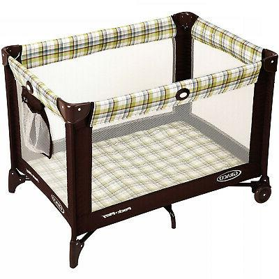 Pack n Play Playard Baby Travel Portable Brown on Go Infant