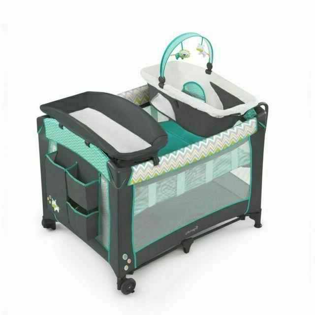 smart and simple portable playard w changing