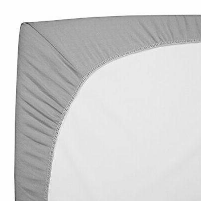 TL Natural Cotton Value Jersey Fitted Playard Sheet,