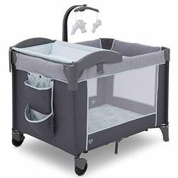 Delta Children LX Deluxe Portable Baby Play Yard With Remova