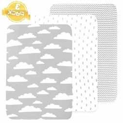 Pack n Play Playard Sheets Set | 3 Pack Great Shower Gift