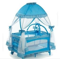 Playpen Bassinet Baby Child Crib Playard Mosquito Net Sleep