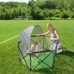 Portable Playard 1/2 Canopy Summer Infant Pop N Play BlackRe