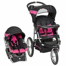 Travel System Baby Trend Jogger Infant Girl Car Seat Base Ca